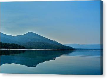 Eagle Lake Blues Canvas Print by Kirsten Giving