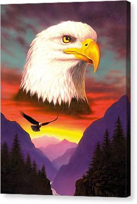 Eagle Canvas Print by MGL Studio - Chris Hiett