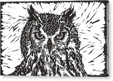 Eagle Owl Canvas Print by Julia Forsyth