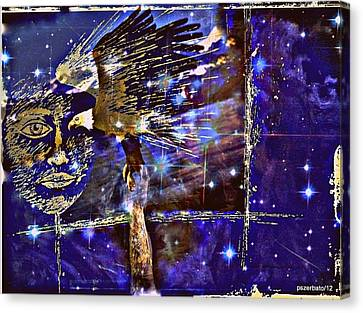 Eagle What Loves Heights And Have Confidence In Your Talon Canvas Print by Paulo Zerbato