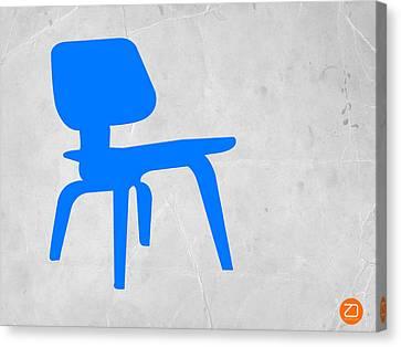 Eames Blue Chair Canvas Print by Naxart Studio