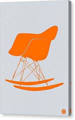 Eames Rocking Chair Orange Canvas Print by Naxart Studio