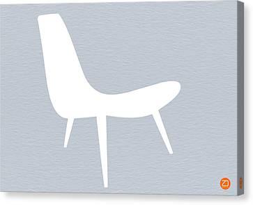 Eames White Chair Canvas Print by Naxart Studio