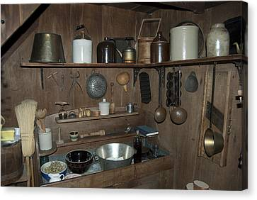 Early American Utensils Canvas Print by Michael Peychich