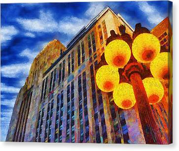 Early Evening Lights Canvas Print by Jeff Kolker