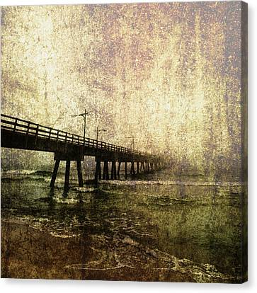 Early Morning Pier Canvas Print by Skip Nall