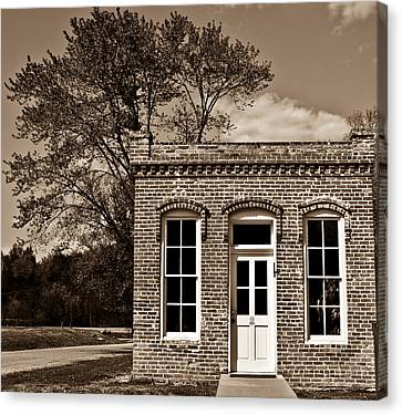 Early Office Building Canvas Print by Douglas Barnett