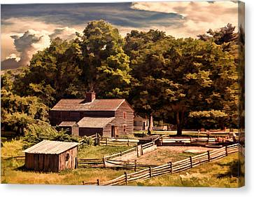 Early Settlers Canvas Print by Lourry Legarde