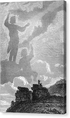 Early Sighting Of Brocken Spectres, 1797 Canvas Print by