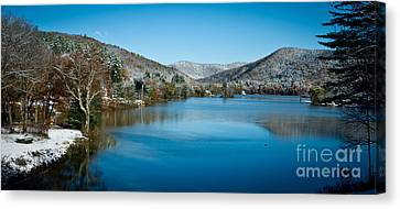 Early Snow In Vermont Canvas Print by Edward Fielding