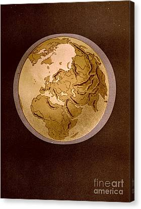 Earth From Space 1872 Canvas Print by Padre Art