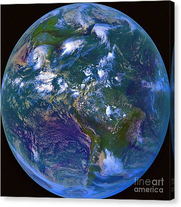 Earth From Space Canvas Print by Padre Art