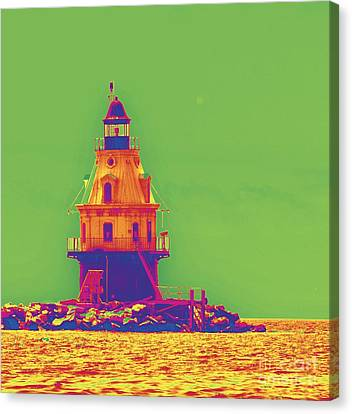 East Coast Lighthouse Canvas Print by Cindy Lee Longhini