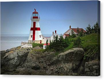 East Quoddy Lighthouse Canvas Print by Robert Wicker