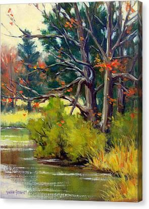 East Texas Autumn Canvas Print by Vickie Fears
