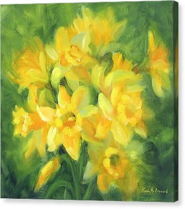 Easter Daffodils Canvas Print by Karin  Leonard