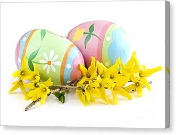 Easter Eggs Canvas Print by Elena Elisseeva