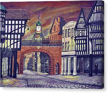 Eastgate Clock - Chester Canvas Print by Ronald Haber
