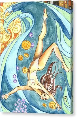 Ebb Canvas Print by Caroline Moses