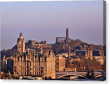 Edinburgh Scotland - A Top-class European City Canvas Print by Christine Till