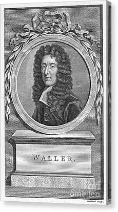 Edmund Waller (1606-1687) Canvas Print by Granger