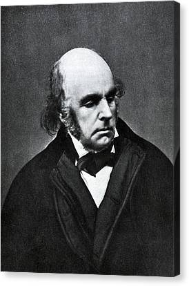 Edward Fitzgerald, English Writer Canvas Print by Humanities And Social Sciences Librarynew York Public Library