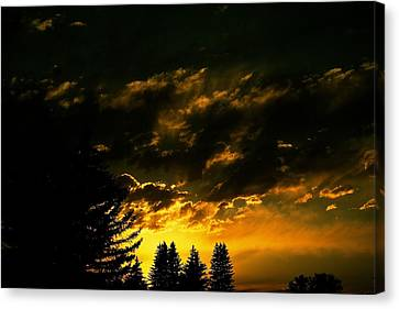 Eerie Evening Canvas Print by Kevin Bone