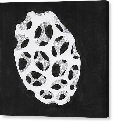 Egg Drawing Mm9907 Canvas Print by Phil Burns