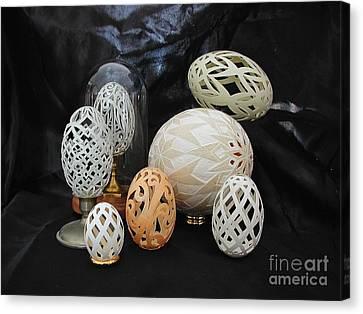 Eggshells 1 Canvas Print by Christina A Pacillo