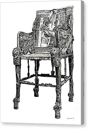 Egyptian Throne Canvas Print by Adendorff Design