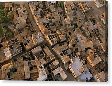 Egyptian Village From The Air Canvas Print by Joe & Clair Carnegie / Libyan Soup