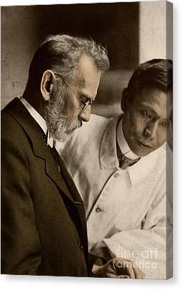 Ehrlich And Hata, Discoverers Canvas Print by Science Source