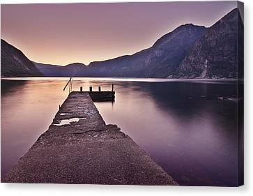 Eidfjord At Sunset Canvas Print by Jesus Villalba