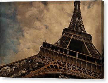 Eiffel Tower 2 Canvas Print by Mary Machare