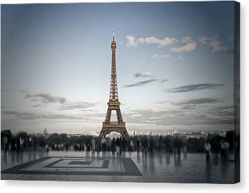 Eiffel Tower Paris Canvas Print by Melanie Viola