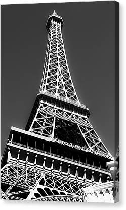 Eiffel Tower Vegas Style Canvas Print by Leslie Leda