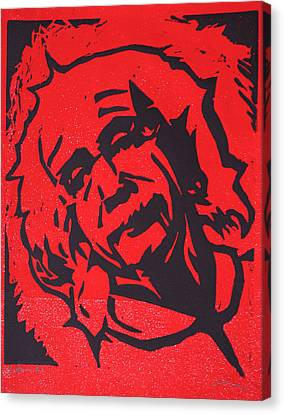 Einstein 2 Canvas Print by William Cauthern