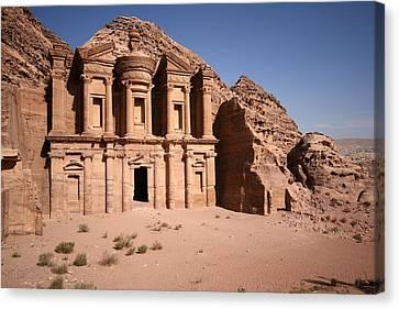 El Deir, The Monastery, Petra, Jordan Canvas Print by Joe & Clair Carnegie / Libyan Soup