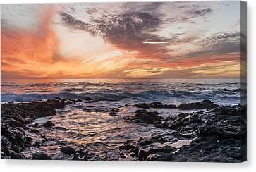 El Golfo, Sunset, Lanzarote, Canvas Print by Travelstock44 - Juergen Held
