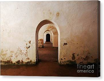 El Morro Fort Barracks Arched Doorways San Juan Puerto Rico Prints Canvas Print by Shawn O'Brien