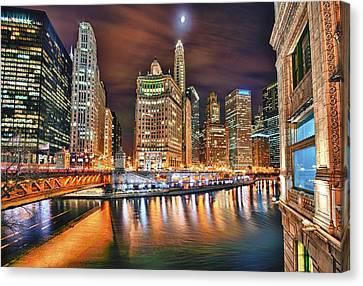 Electric City Canvas Print by Joel Olives
