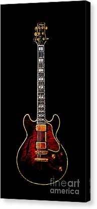 Electric Guitar . Painterly Canvas Print by Wingsdomain Art and Photography