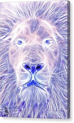 Electric Lion Canvas Print by The DigArtisT