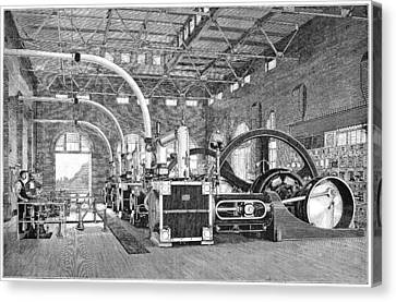 Electric Tramway Generator, 19th Century Canvas Print by