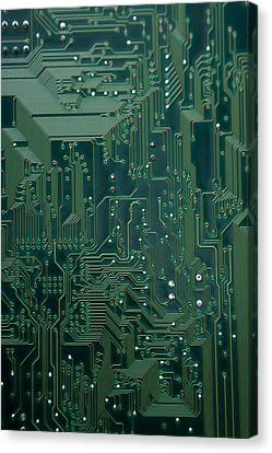Electronic Highway Canvas Print by David Paul Murray