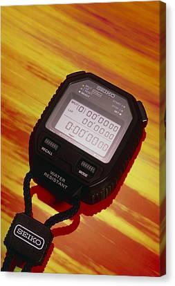 Electronic Stopwatch Canvas Print by David Parker
