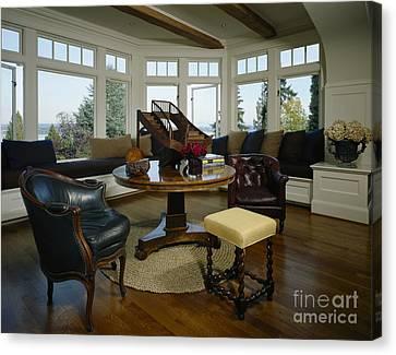 Elegant Sitting Room Canvas Print by Robert Pisano