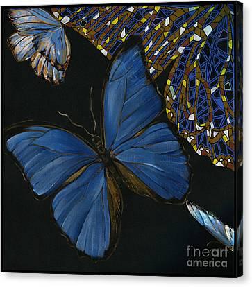 Elena Yakubovich - Butterfly 2x2 Lower Left Corner Canvas Print by Elena Yakubovich