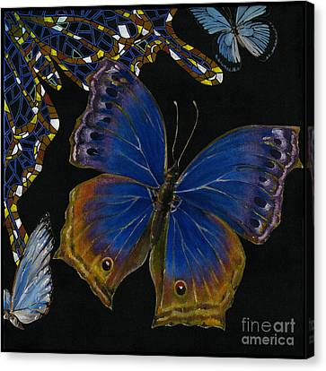 Elena Yakubovich - Butterfly 2x2 Lower Right Corner Canvas Print by Elena Yakubovich
