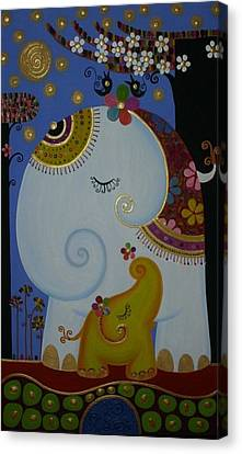 Elephant Canvas Print by Suwannee Wannasopha